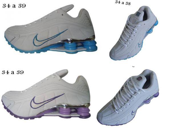 Tênis Nike Shox R4 cromado Feminino